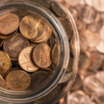 Mason jar of pennies