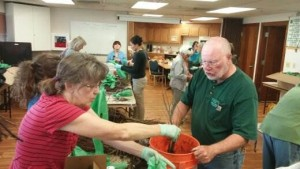 Master Gardeners preparing a demo