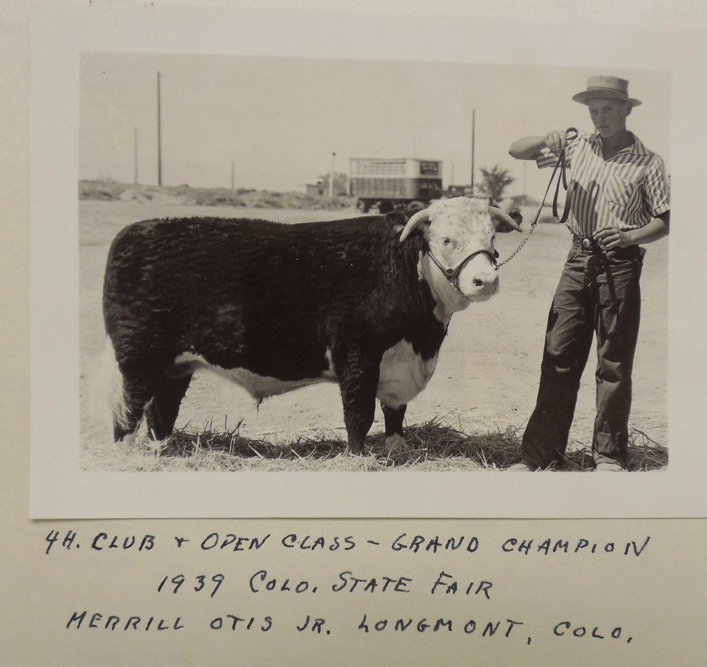 4-H Club Grand Champion 1939 Colorado State Fair
