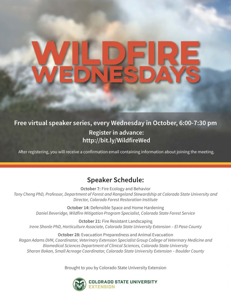 Wildfire Wednesday flyer